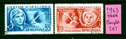 ROMANIA - R ROMINA - Spazio - Year 1963 - Timbrati - Stamped - Affranchie - Gestempelt. - Europe