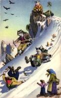 Katzen Beim Bergsteigen, Ca. 50er/60er Jahre - Katzen