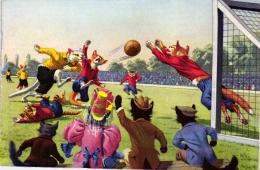 Katzen Spielen Fussball, Verlag Max Künzli, Ca. 50er Jahre - Katzen