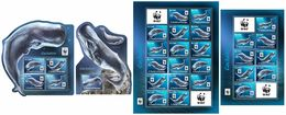 S. TOME & PRINCIPE 2017 - WWF Sperm Whale. Complete IMPERF. Set - Unused Stamps
