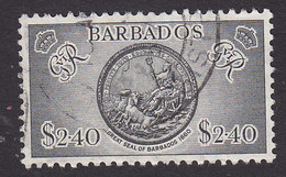 Barbados, Scott #227, Used, Great Seal, Issued 1950 - Barbados (...-1966)