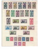 HAUTE VOLTA - COLLECTION COMPLETE DE 89 TIMBRES NEUFS SUR 3 PAGE D'ALBUM - COTE 295€ (P1). - Haute-Volta (1920-1932)