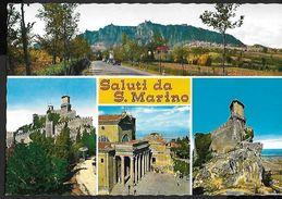 ! -  Saint-Marin - Saluti Da S. Marino - La Pieve (La Prima Torre) - Visione Del Monte Titano - Saint-Marin