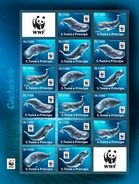 IMPERF. S. TOME & PRINCIPE 2017 - WWF Sperm Whale M/S 4 Sets. Official Issue - Whales