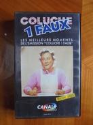 Ancienne Cassette Vidéo COLUCHE 1 FAUX 1988 - Séries Et Programmes TV