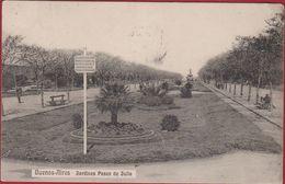 Republica Argentina Argentine Buenos Aires Jardines Paseo De Julio RARE OLD POSTCARD (fold) - Argentine
