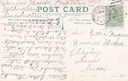 1907  FOLKINGHAM DUPLEX CANCELLATION - Poststempel
