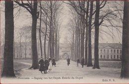 Hemixem Hemiksem Ingang Van Den Depot Van St. Bernard Entree Du 1911 Afgestempeld ZELDZAAM Armee Belge (kleurverlies) - Hemiksem