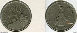 Zimbabwe 50 Cents 1980 KM 5 - Zimbabwe