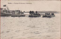 Hemixem Hemiksem Genie Pontage Saint Bernard Armee Belge Belgian Army (Oude Kaart NIET Nels) - Hemiksem