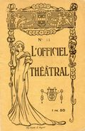 PROGRAMME L'OFFICIEL THEATRAL Claudine GRAND THEATRE DE CHERBOURG  Mlle Mad.Well  Années 1930 - Programs