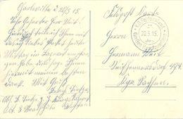 1915 , ALEMANIA , FELDPOST , CORREO DE CAMPAÑA , K.D. FELDPOSTAMT / GROSSEN HAUPTQUARTIERS - Cartas