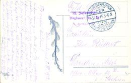 1915 , ALEMANIA , FELDPOST , CORREO DE CAMPAÑA , FELDPOSTEXPEDITION DER 123 INFANTERIE - DIVISION - Cartas