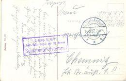 1917 , ALEMANIA , FELDPOST , CORREO DE CAMPAÑA , SOLDATENBRIEFSTEMPEL , 3. KOMP. II. BATL. FELD-REKR. DEPOT DER 10 ARMEE - Cartas