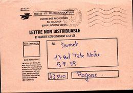1- FRANCE Enveloppe Avec Cachet RECHERCHES COURRIERS LIBOURNE 33 - 1985 - Marcofilie (Brieven)