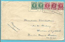 194+202 Op Brief Per EXPRES Met Telegraafstempel LAEKEN (STAT.) - 1922-1927 Houyoux
