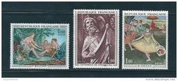 France Timbres De 1970/71  Tableaux N°1652 A 1654  Neuf ** - Neufs