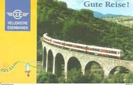 RAIL RAILROAD RAILWAY TRAIN * HELLENIC RAILWAYS GREECE GREEK BRIDGE * CALENDAR * Hellenische Eisenbahnen 1996 * Germany - Calendriers