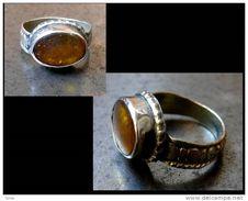 Jolie Bague Orientale Argent Cornaline / Nice Cornalian And Silver Oriental Ring - Bagues