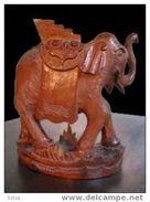 Bel éléphant 40-50 En Teck / Teck Wood Elephant From The Forties - Wood