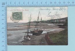 """Murray Bay Quebec Canada -Low Tide, Marée Basse Voilier Sur Grève """"La Malbaie"""", Cover Pointe Au Pic 1907 - Quebec"""