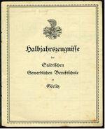 Görlitz 1931 -  Halbjahreszeugnisse Der Städtischen Gewerblichen Berufsschule - Diplome Und Schulzeugnisse