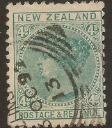 NZ 1882 4d SSF QV P 12x11.5 SG 190 U #ABS62 - 1855-1907 Crown Colony