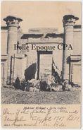 Égypte - LUQSOR / Medinet Habout - Porte Tontine +++ A. C. Broggini, Milano-Caire, #5014 +++ To Barre, MA, USA, 1909 - Luxor