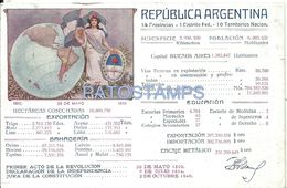 79012 ARGENTINA CENTENARIO COMISION NACIONAL PATRIOTIC HERALDRY AND FLAG  POSTAL POSTCARD - Argentinien