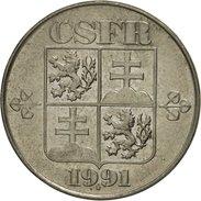 Tchécoslovaquie, 5 Korun, 1991, SUP, Copper-nickel, KM:152 - Tchécoslovaquie