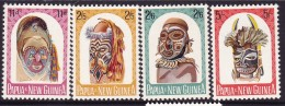 Papua New Guinea 1964 Carved Heads Sc 178-81 Mint Never Hinged - Papua New Guinea