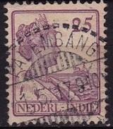 Ned. Indië: Langebalkstempel PALEMBANG (510) Op 1913-1932 Koningin Wilhelmina 25 Cent Lila NVPH 124 - Indes Néerlandaises