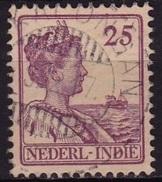 Ned. Indië: Langebalkstempel PEKANLONGAN (553) Op 1913-1932 Koningin Wilhelmina 25 Cent Lila NVPH 124 - Nederlands-Indië