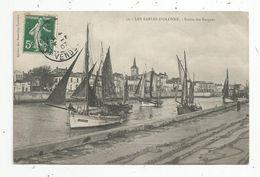 Cp , Bateaux De Pêche ,85 , LES SABLES D'OLONNE , Sortie Des Barques , Voyagée 1907 - Pêche