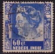 Ned. Indië: Volledig Langebalkstempel SOERABAJA-KOTTA (751) Op 1934-37 Koningin Wilhelmina 60 Ct Blauw NVPH 206 - Indes Néerlandaises