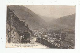 Cp , Chemin De Fer à Cremaillère De Superbagnéres , Train , Vue Sur LUCHON , Voyagée 1915 - Trains