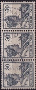 Ned. Indië: Langebalkstempel TERNATE (843) Op 1913-1932 Koningin Wilhelmina 30 Cent Blauw Strip Van 3 NVPH 125 - Indes Néerlandaises