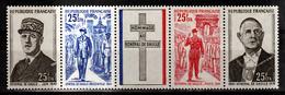 Réunion 403 A Triptyque De Gaulle Neuf ** MnH Sin Charmela Cote 10 - De Gaulle (Général)