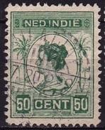 Ned. Indië: Volledig Langebalkstempel TJILATJAP (867) Op 1913-31 Koningin Wilhelmina 50 Cent Groen NVPH 129 A - Indes Néerlandaises