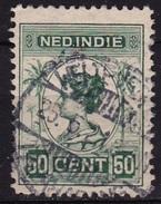Ned. Indië: Langebalkstempel WELTEVREDEN TANAHABANG (927) Op 1913-31 Koningin Wilhelmina 50 Cent Groen NVPH 129 A - Indes Néerlandaises