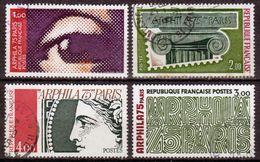 FRANCE - 1975 - YT N° 1830 / 1833 - Oblitérés  - Arphila 75 - France