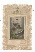 Image Pieuse , Religieuse , Ajourée , Dentelée, Au Pied De Cette Croix.. , Lejeune , 2 Scans - Devotion Images