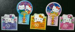 Japon 2012 5811 5815 Hello Kitty Dear Daniel Feux D Artifice Photo Non Contractuelle - 1989-... Kaiser Akihito (Heisei Era)