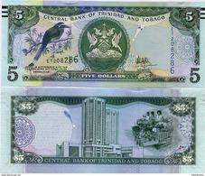 TRINIDAD & TOBAGO       5 Dollars       P-New      2006 (2017)     UNC [ Sign. Hilaire ] - Trinidad & Tobago
