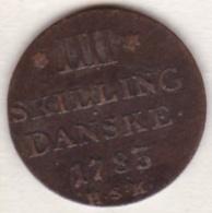 Denmark. 4 Skilling 1783 HSK. Christian VII. KM# 644. - Denmark
