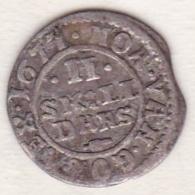 Denmark . 2 Skilling 1677, Christian V , En Argent, KM# 358 - Danemark
