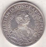 Denmark. 2 Kroner 1903. 40th Anniversary Of Reign Christian IX. En Argent ,KM# 802. - Denmark