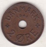 Faeroe Islands . 2 Ore 1941 . Bronze , KM# 2 - Danemark