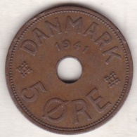 Faeroe Islands . 5 Ore 1941 . Bronze , KM# 3 - Danemark