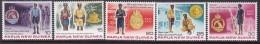 Papua New Guinea 1978 Police Sc 486-90 Mint Never Hinged - Papua New Guinea